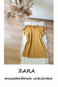 Miodowa musztardowa sukienka ZARA tunika S M...