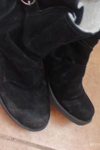 Czarne używane botki