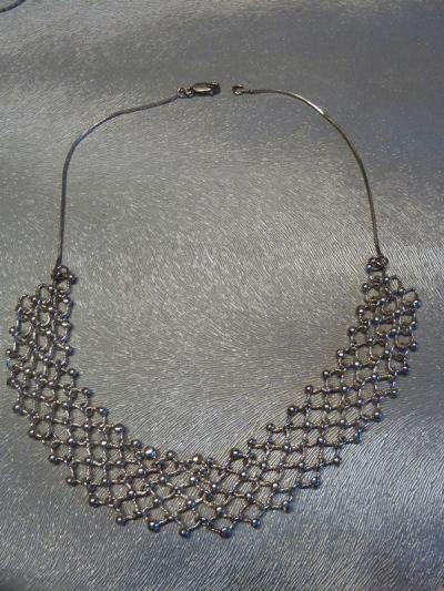 Naszyjniki naszyjnik siateczka srebro