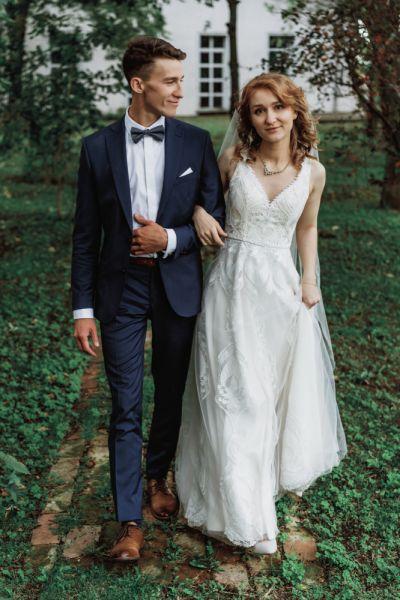 Suknie ślubne Sukienka ślubna koronkowa ivory rozmiar 34