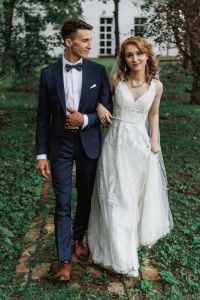 Sukienka ślubna koronkowa ivory rozmiar 34...