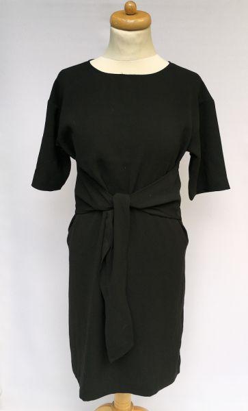 Suknie i sukienki Sukienka H&M Czarna Elegancka S 36 Kokarda Wizytowa