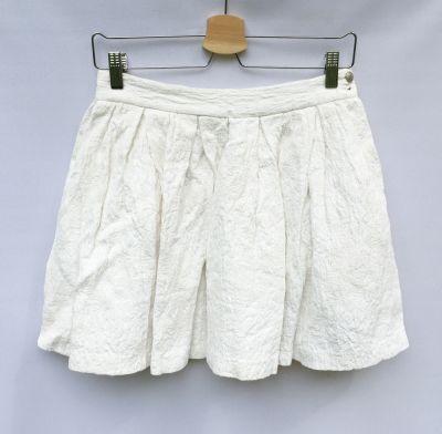 Spódnice Spódniczka Biała Tłoczony Wzór S 36 Rozkloszowana Zara