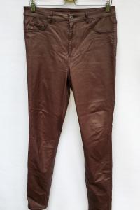 Spodnie Bordowe Woskowane H&M 32 32 Jeggings Rurki...