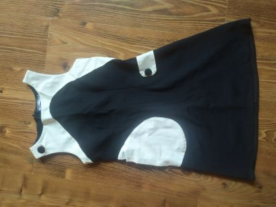 Suknie i sukienki Sukienka biało czarna krótka
