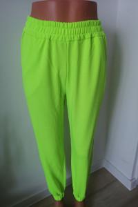 Nowe spodnie dresowe odblaskowe limonka...