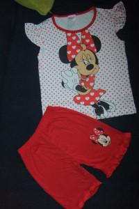 nowa piżama pidżama na lato 100 bawełna Myszka Minnie 5 6 7 lat...