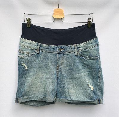 Spodenki Spodenki Ciążowe H&M Mama L 40 Shorts Przetarcia Dzinsowe