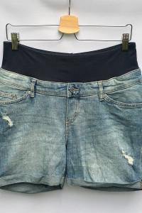 Spodenki Ciążowe H&M Mama L 40 Shorts Przetarcia Dzinsowe