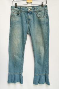 Spodnie Dzinsowe Jeansowe Falbanka Zara 36 S Dzins...
