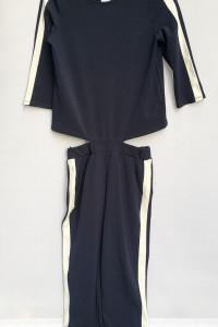Dres Granatowy Vero Moda Lampasy Dresowy XS 34 Dresy