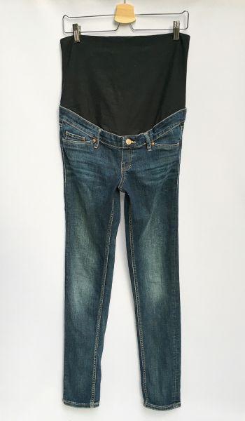 Spodnie Spodnie Ciążowe Dzinsowe H&M Mama Rurki Skinny L 40