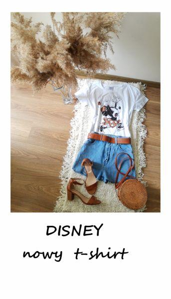 T-shirt Nowy t shirt Disney myszka miki bawełna M L bawełniana koszulka