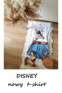 Nowy t shirt Disney myszka miki bawełna M L bawełniana koszulka...