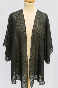 Kimono Czarne Narzutka KappAhl Panterka Cętki L XL 40 42...