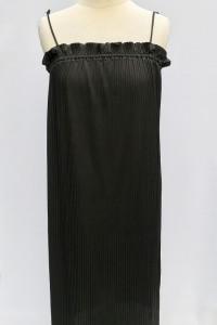 Sukienka Czarna H&M M 38 Plisowana Plisa Prosta...
