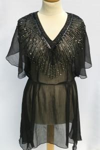 Sukienka Plażowa Pareo Czarne L 40 H&M Koraliki Cekiny...