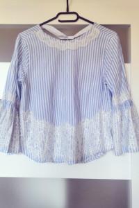 Bluzka Zara koronkowe wstawki 38 M...