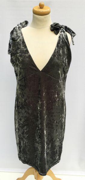 Suknie i sukienki Sukienka Szara H&M Welurowa Aksamit 44 XXL Welur