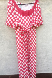 Sukienka vintage czerwona w białe groszki 44 lub 46...