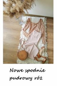 Nowe pudrowe spodnie L letnie chinosy...