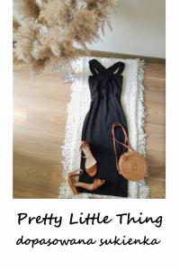 Mała czarna dopasowana midi sukienka S M ołówkowa Pretty Little...