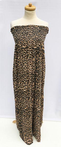 Suknie i sukienki Sukienka Cętki Panterka Long Długa Maxi Buzy M 38 Rozkloszowana