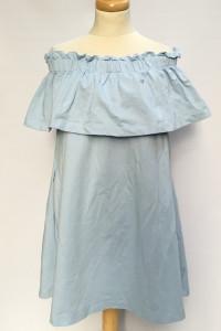 Sukienka H&M XL 42 Hiszpanka Niebieska Odkryte Ramiona Dresowa...