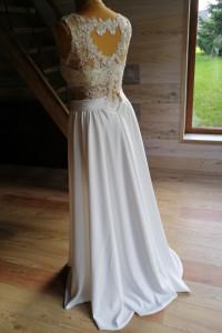 Suknia ślubna dwuczęściowa...