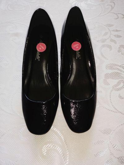 Czółenka Czarne eleganckie buty czółenka basic na obcasie 38
