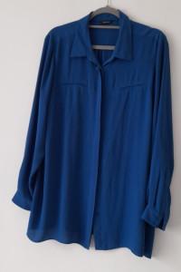 Niebieska elegancka koszula mgiełka 48