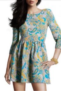 H&M sukienka w paisley turkusowo żółta 42 XL polecam na 40 L...