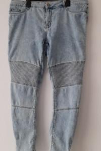 Jasnoniebieskie spodnie rurki wysoki stan 46...