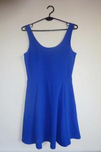 H&M NOWA sukienka niebieska chabrowa 36 S...