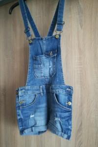 Ogrodniczki jeansowe krótkie...