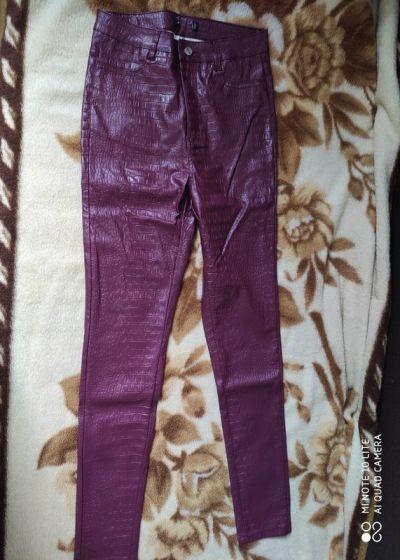 Spodnie Fajne spodnie skóropodobne