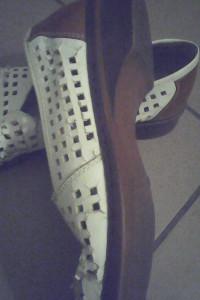 Balerinki ażurowe białe Rieker 38