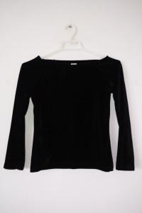 Czarna welurowa bluzka dziewczęca elegancka goth
