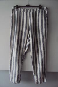 lniane spodnie w pasy...