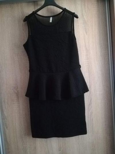 Suknie i sukienki Sukienka z baskinką mała czarna