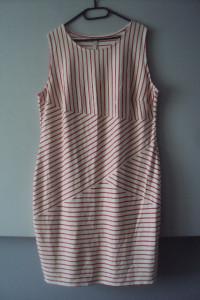 dzianninowa sukienka w paseczki...