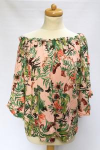 Bluzka Hiszpanka Wzory H&M L 40 Liście Odkryte Ramiona...