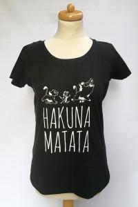 Bluzka Czarna T Shirt Hakuna Matata NOWA Disney S 36...