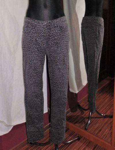 Spodnie Jeansy w panterkę C&A panterka pantera szare spodnie jeansy