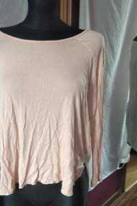 Asymetryczna bluzka Bik Bok oversize łososiowa pudrowy róż...