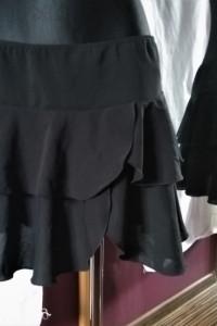 Czarna spódniczka LOOK M L spódnica z falbankami falbany...