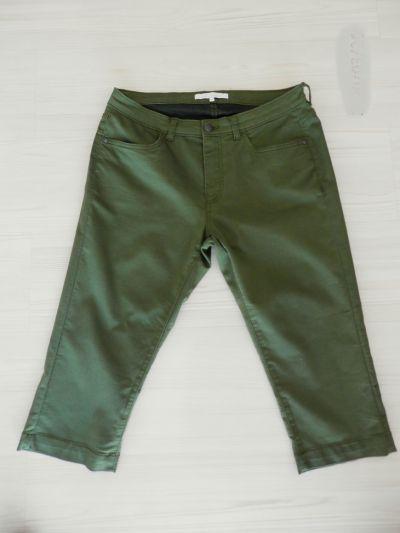 Spodenki Spodnie Bermudy Capri Rybaczki Oliwkowe Khaki Regular Waist XL