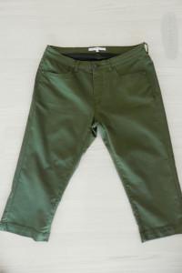 Spodnie Bermudy Capri Rybaczki Oliwkowe Khaki Regular Waist XL