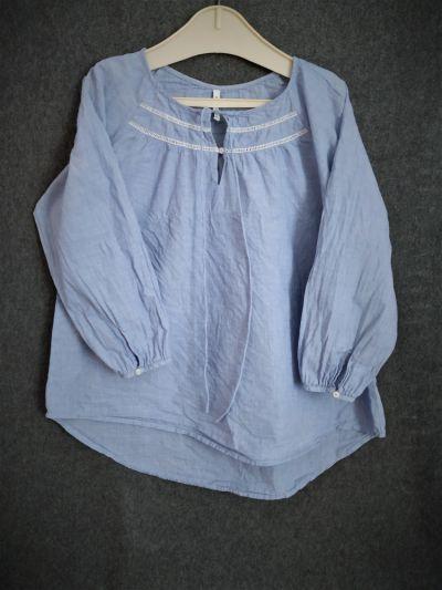 Bluzki Bluzka luźna błękit