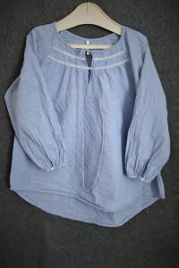 Bluzka luźna błękit...